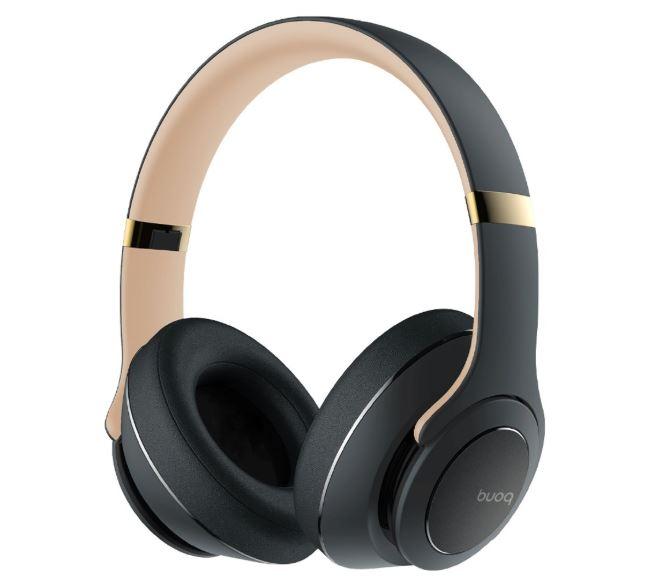 buoq axis headphone draadloze koptelefoon speaker 3in1 hoofdtelefoon bluetooth headset grey