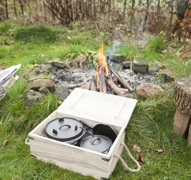 esschert kampvuur kookset gietijzer 7-delig esschert design kamperen vakantie fancy flames
