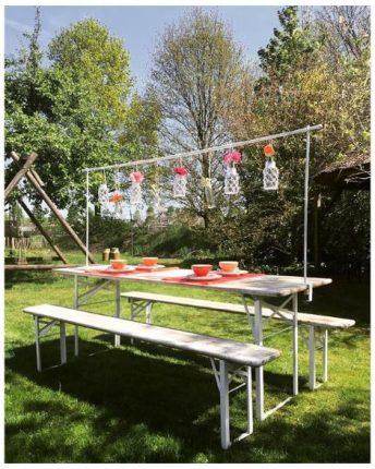 maximavida tafelklem decoratieframe babs tafelkleedklemmen kopen tafelklem voor decoratie metaal buiten tuindecoratie tafeldecoratie poedercoating tot 250cm