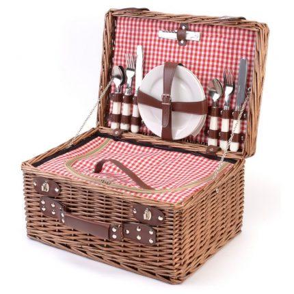 picknickmand riet 4 personen mand camping outdoor picnic bag le studio bistrot