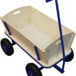 sunny billy beach bolderkar wagon hout met luchtbanden en stuurstang
