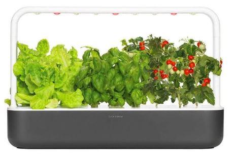 click & grow smart garden 9  grijs slimme binnentuin led verlichting companion app kweektuin indoor binnentuin review