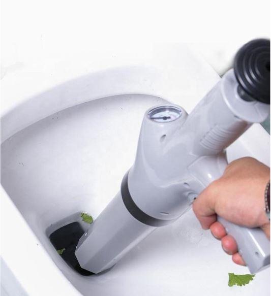 ecoduct ontstoppingspistool verstopte toilet afvoer zelf ontstoppen 6 bar druk zonder chemicalien alle leidingen wc verstopt ontstopper