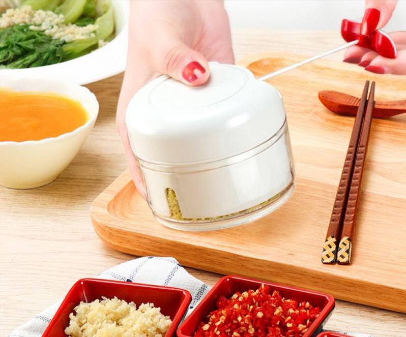 mini swift food chopper transparent bowl with string and rvs blades groente fruit versnijden cutter met trekkoord review