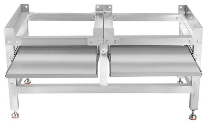 dubbele wasdroger verhoger rvs 50 centimeter met uitschuifbaar werkblad plank verhoging en antislip voetjes