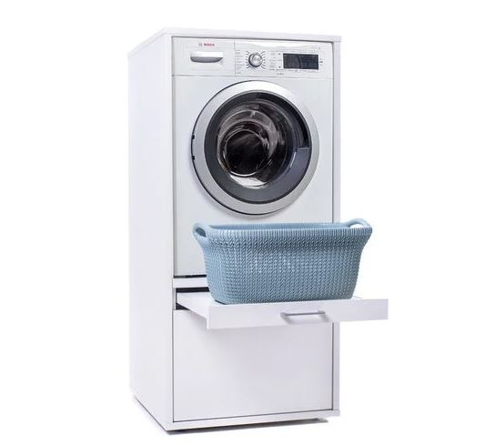 wastoren met lade werkblad en plank werkhoogte wasmachine meubel wastoren review