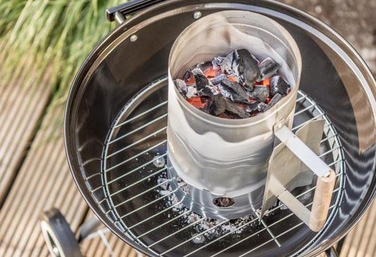 bbq starter groot metaal werking barbecue snelstarter hoe gebruiken