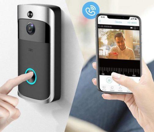 goedkope video deurbel met camera slimme draadloze video doorbell with camera and app
