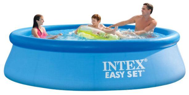 intex easy set lucht zwembad opblaasbaar met filterpomp