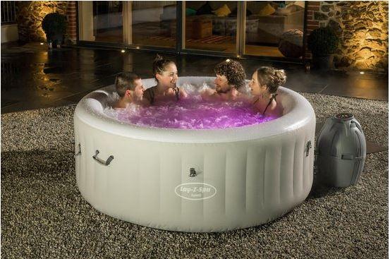 opblaasbaar lucht zwembad luxe jacuzzi spa voor 4 personen met jets en led verlichting