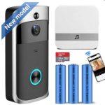 wifi video deurbel met infrarood camera smart video doorbell with gong and free smartphone app